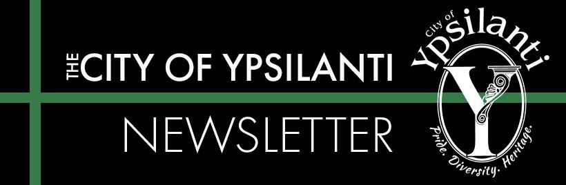 Vity of Ypsi Newsletter header