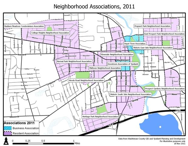 Map of Local Neighborhood Associations