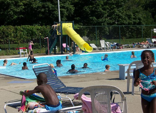 Summer At Rutherford Pool by Julie Angeli